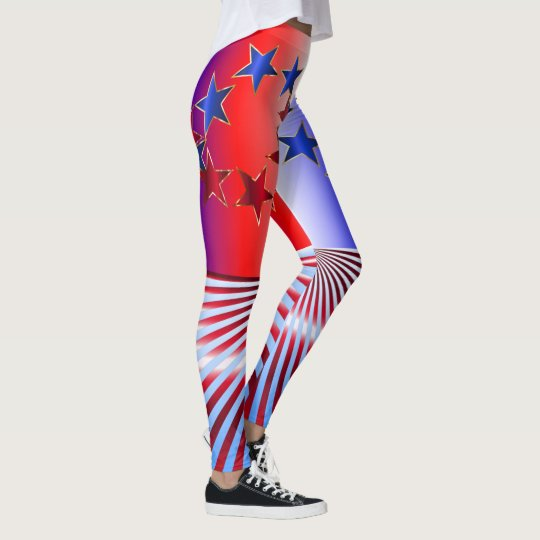 red white and blue stars and stripes usa flag leggings zazzle com