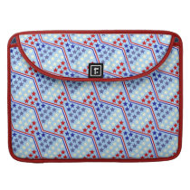 Red White and Blue Stars and Zigzag Stripe Pattern Sleeve For MacBook Pro