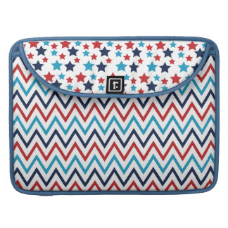 red white and blue stars and zigzags MacBook pro sleeve