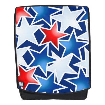 USA Themed Red white and blue stars backpack