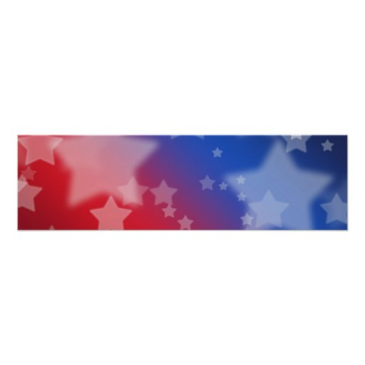 red white and blue stars banner poster zazzle. Black Bedroom Furniture Sets. Home Design Ideas