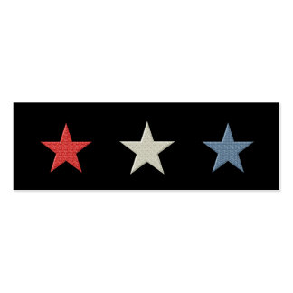 Red White and Blue Stars Bookmark Business Cards