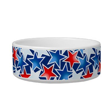 USA Themed Red white and blue stars bowl
