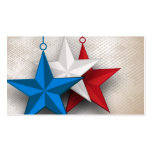 Red White And Blue Stars Business card design