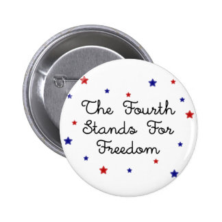Red White and Blue Stars Button