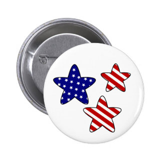Red White and Blue Stars Buttons