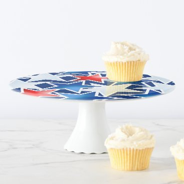 USA Themed Red white and blue stars cake stand