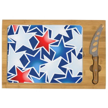USA Themed Red white and blue stars cheese platter
