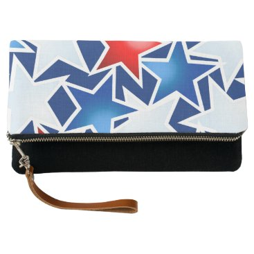 USA Themed Red white and blue stars clutch