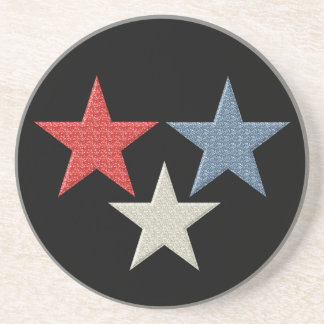 Red White and Blue Stars Coaster