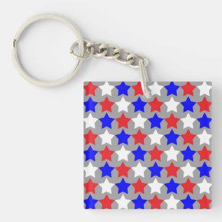 Red, white and blue stars design keychain. keychain