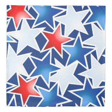USA Themed Red white and blue stars duvet cover