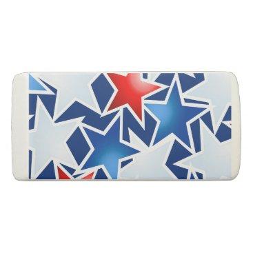 USA Themed Red white and blue stars eraser