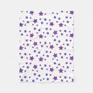 Red, White, and Blue Stars Fleece Blanket