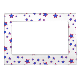 Red, White, and Blue Stars Magnetic Photo Frame