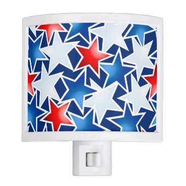 USA Themed Red white and blue stars night light