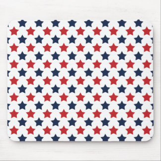 Red, White, and Blue Stars Pattern Mouse Pad