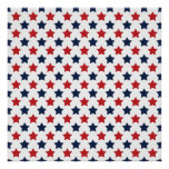 Red, White, and Blue Stars Pattern Posters