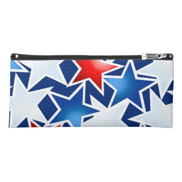 USA Themed Red white and blue stars pencil case