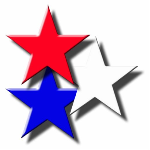 Red, White, and Blue Stars Photo Cut Outs