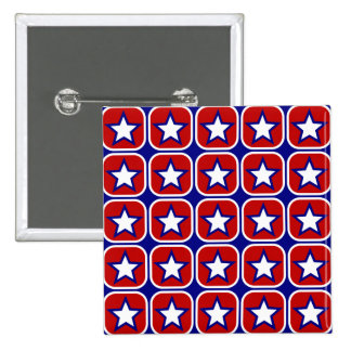 Red White and Blue Stars Pinback Button