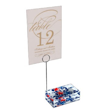 USA Themed Red white and blue stars place card holder