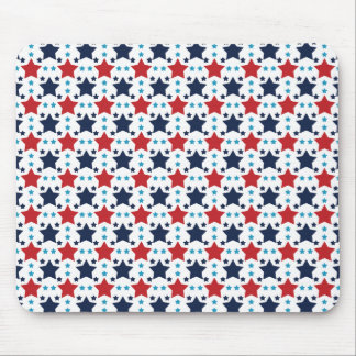 Red, White, and Blue Stars; Starry Pattern Mouse Pad
