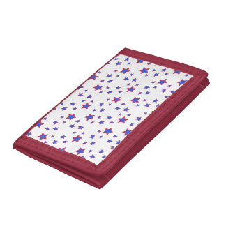 Red, White, and Blue Stars Tri-fold Wallets