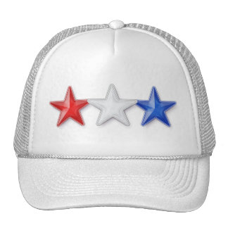 Red, White and Blue Stars Trucker Hat