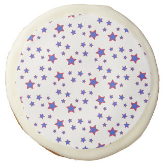 Red, White, and Blue Stars Sugar Cookie