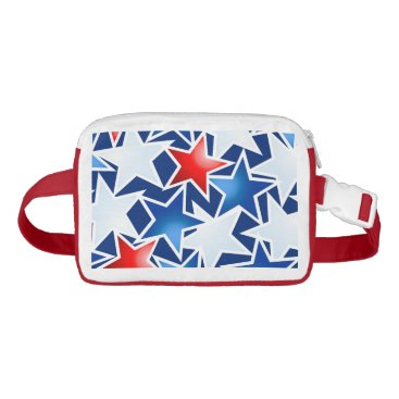 USA Themed Red white and blue stars waist bag