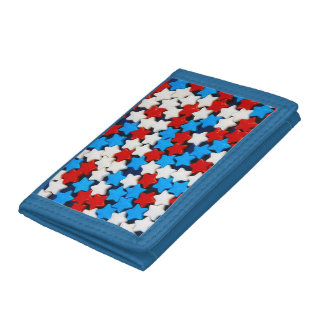 Red, white and blue stars wallet