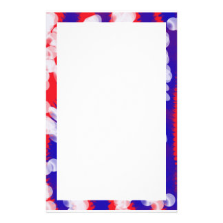 red white and blue stationery
