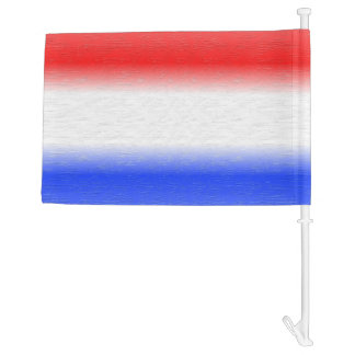 Red White and Blue Stripe Car Flag