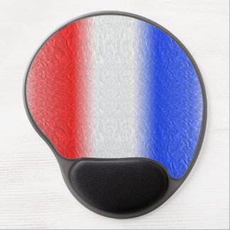 Red White and Blue Stripe Gel Mouse Pad