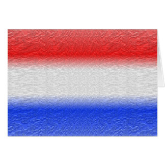 Red White and Blue Stripe Greeting Card