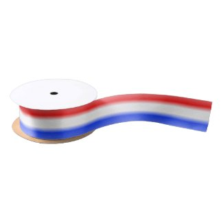Red White and Blue Stripe Satin Ribbon