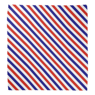 Red White and Blue Striped Bandana