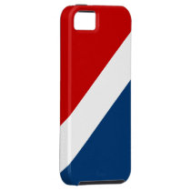Red White and Blue Striped Vibe iPhone 5 Case