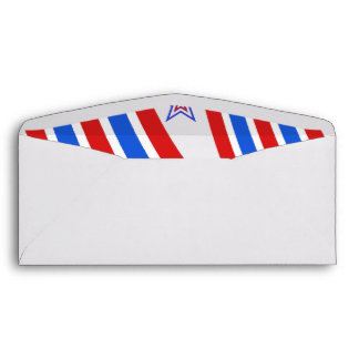 Red White and Blue Stripes and Star Envelope