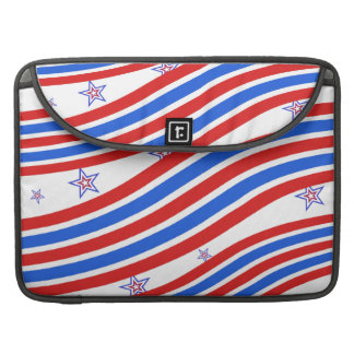 Red White and Blue Stripes and Star MacBook Pro Sleeve