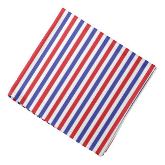 Red, White and Blue Stripes Bandana