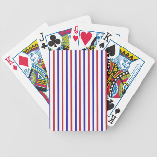 Red, White, and Blue Stripes Bicycle Playing Cards