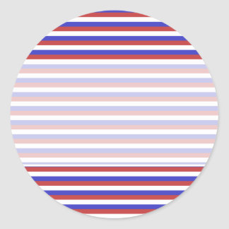 Red, White and Blue Stripes. Classic Round Sticker