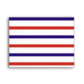 Red White and Blue Stripes Envelope