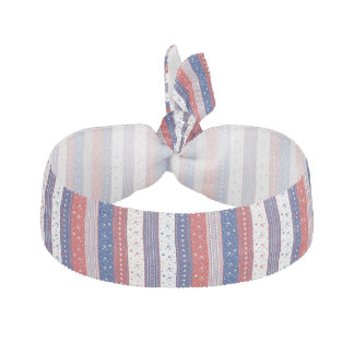 Red White And Blue Stripes Hair Tie