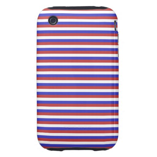 Red, White and Blue Stripes. iPhone 3 Tough Cover