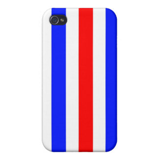 Red, white and blue stripes iPhone 4 cover