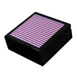 Red, White and Blue Stripes. Keepsake Boxes