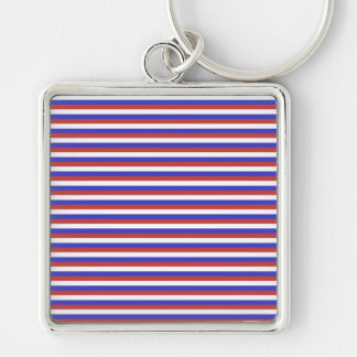 Red, White and Blue Stripes. Key Chains
